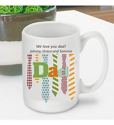 Personalized Dads Ties Mug