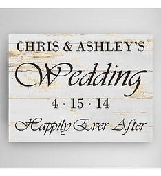 Personalized Wedding Reception Canvas Print