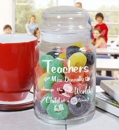 PERSONALIZED TEACHER TREAT JAR