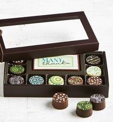 Simply Chocolate Thank You Bar  Truffles 10 pc