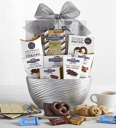 Ghirardelli Silver Sweets Ceramic Bowl
