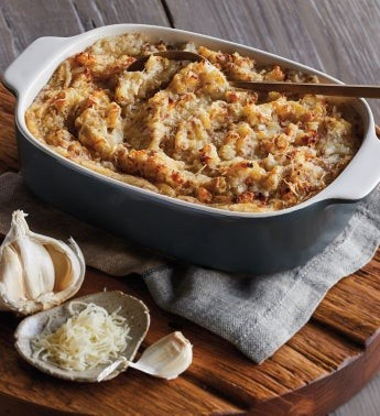 Gruyère and Garlic Red Mashed Potatoes
