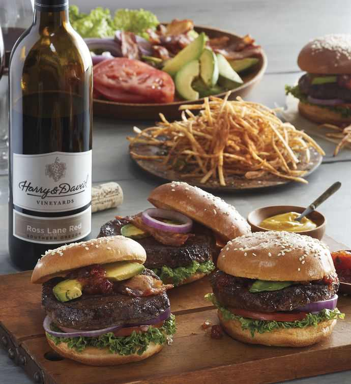 Steak Burgers - Twenty-Four 5.3-Ounce USDA Prime with Wine