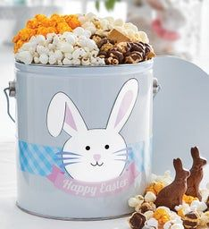 Happy Easter 1 Gallon Pail of Snacks
