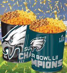 Philadelphia Eagles Super Bowl LII Commemorative Popcorn Tin
