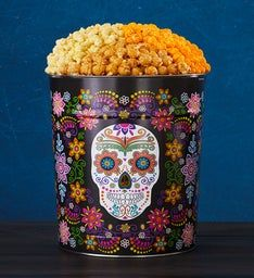 Day Of The Dead 3 Flavor Popcorn Tin