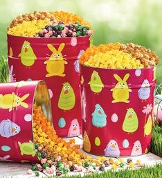 Easter Friends Popcorn Tins
