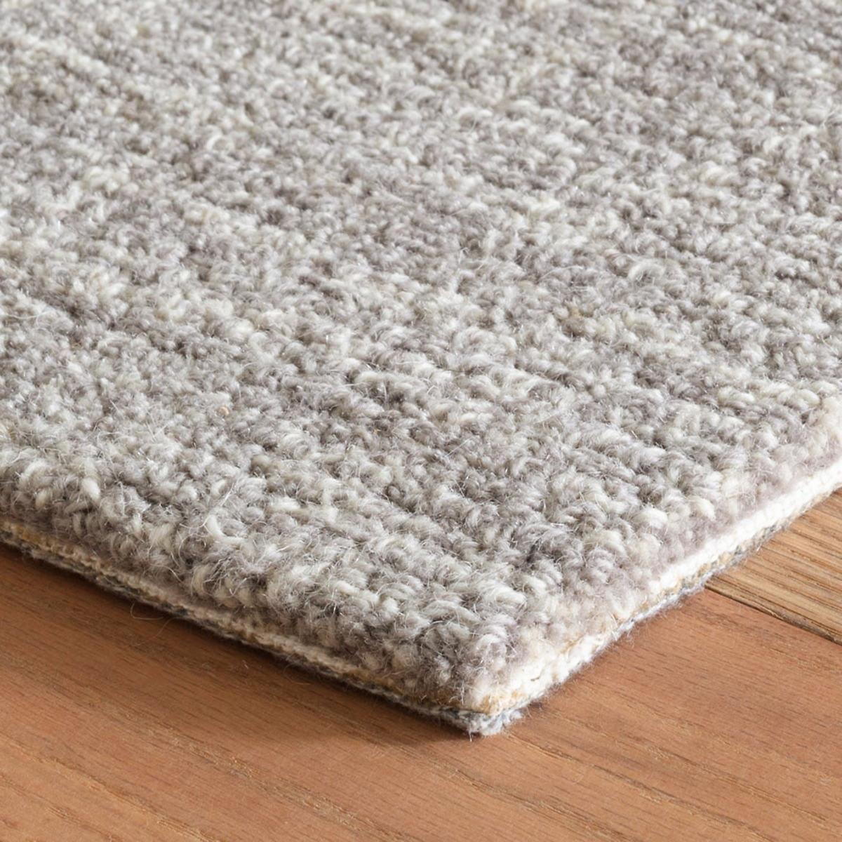 Crosshatch Dove Grey Micro Hooked Wool Rug Dash Albert