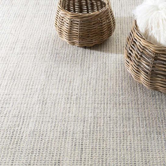 Homer Grey Loom Knotted Wool Viscose Rug The Outlet