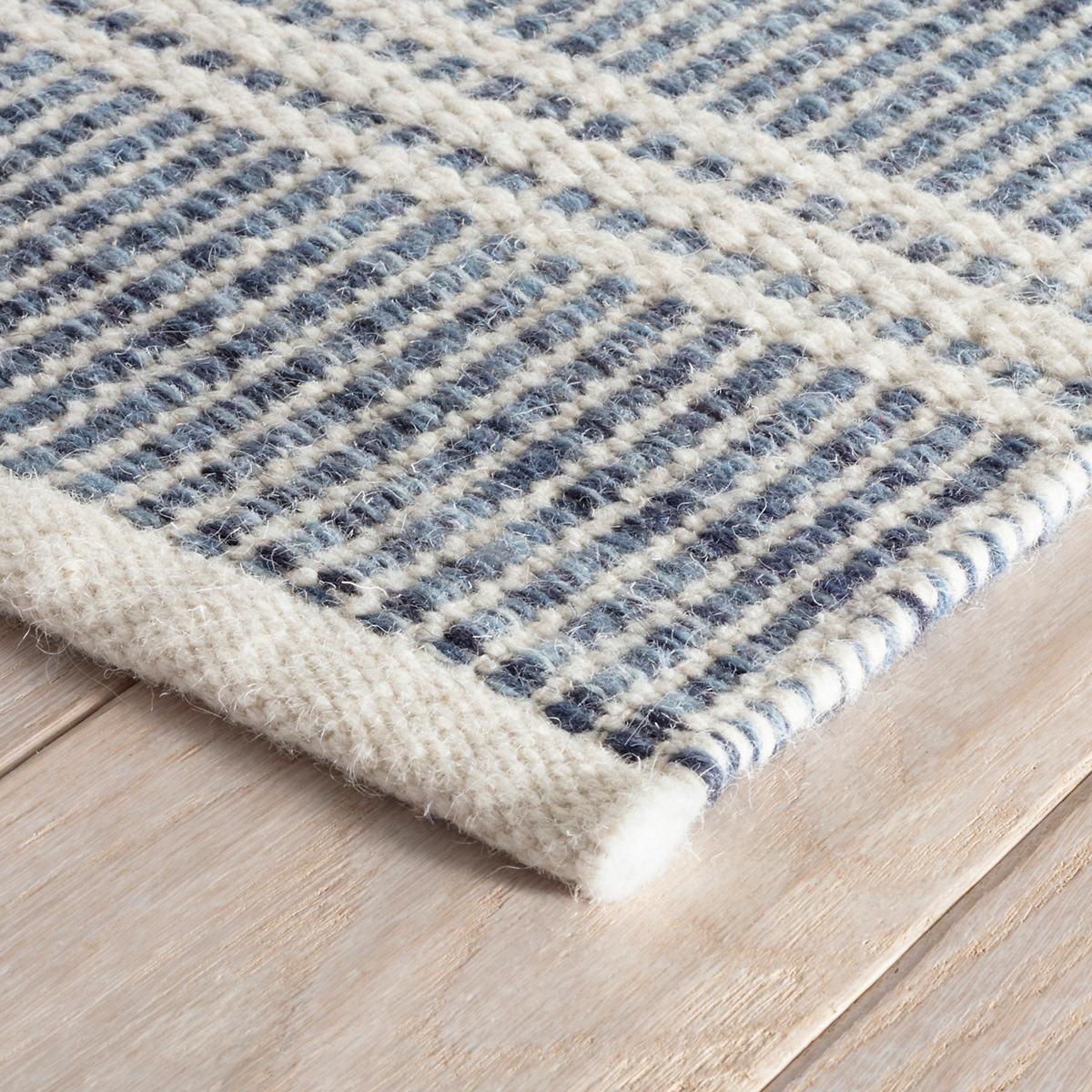 Malta Blue Woven Wool Rug Dash Albert