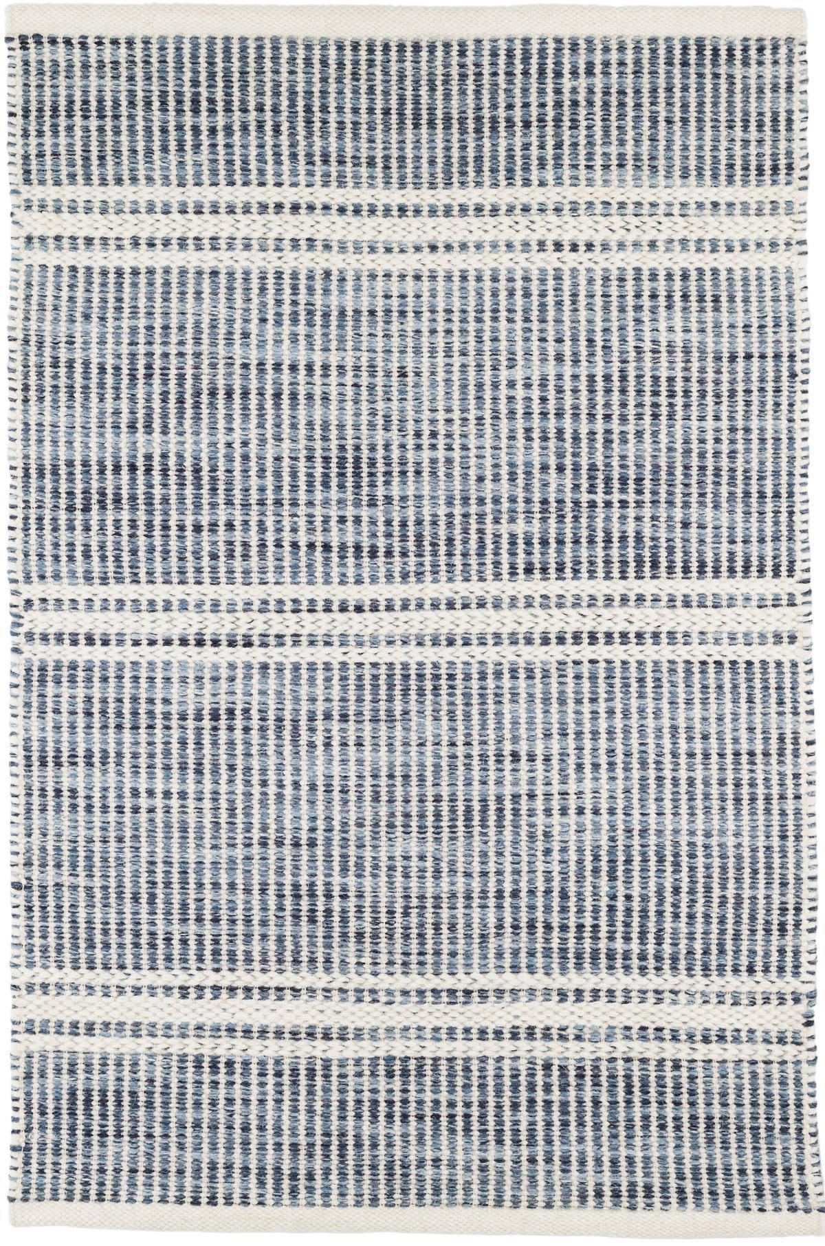 Malta Blue Woven Wool Rug | Dash & Albert