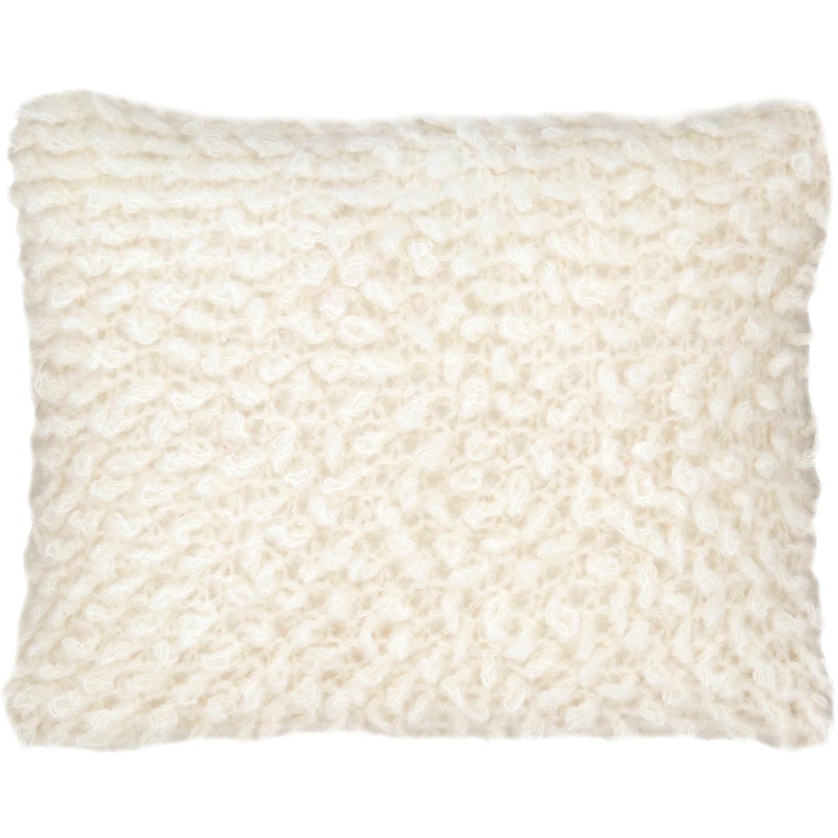 Mara Knit Ivory Decorative Pillow Pine Cone Hill