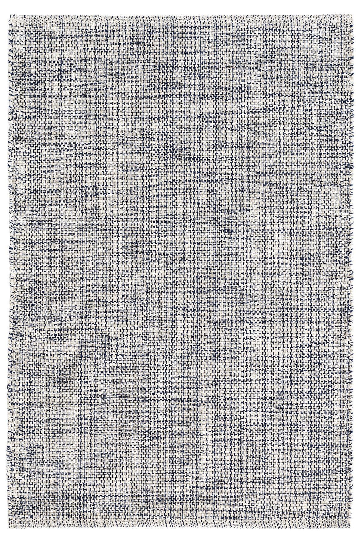 Marled Indigo Woven Cotton Rug Dash