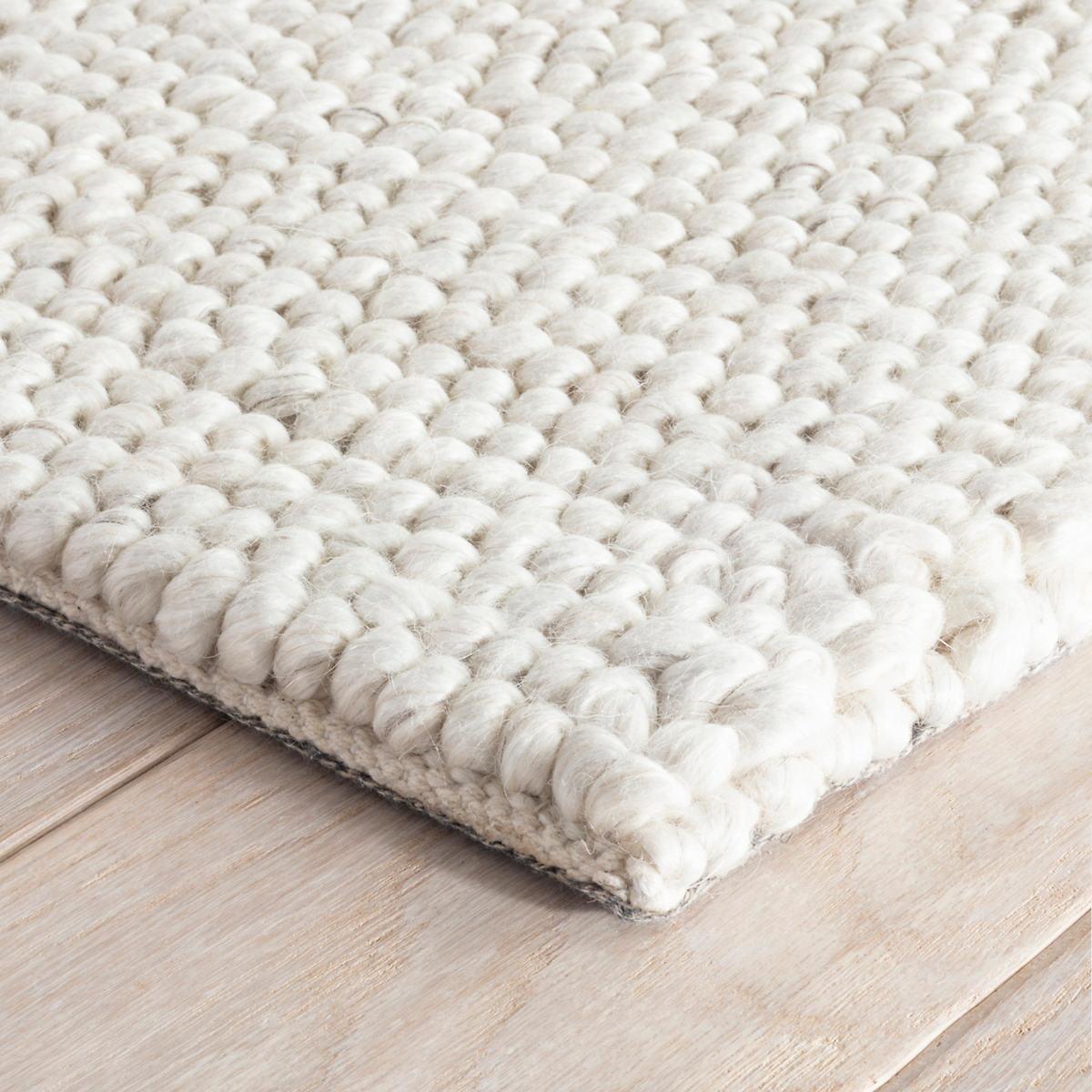 Niels Ivory Woven Wool Viscose Rug Dash Albert