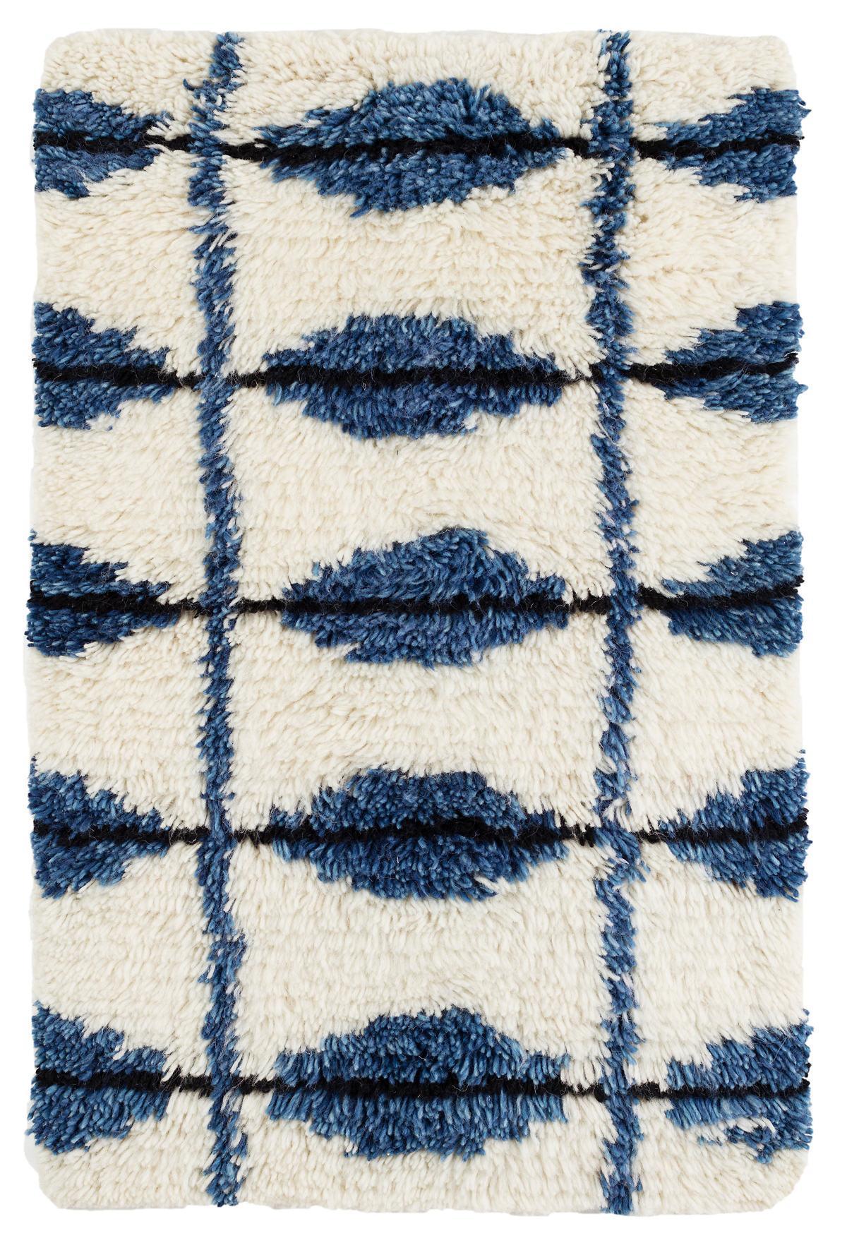 Noma Indigo Woven Wool Rug Dash Albert