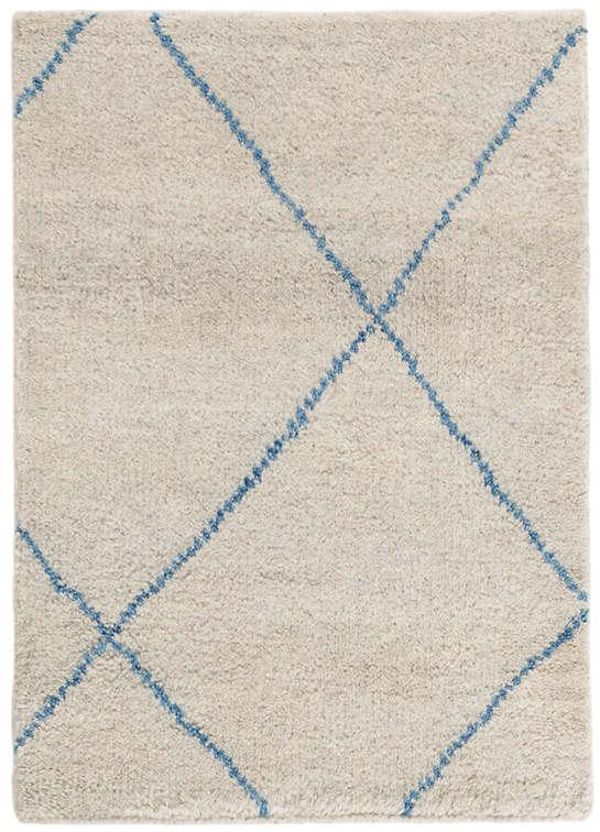 Numa Blue Hand Knotted Wool Rug The Outlet