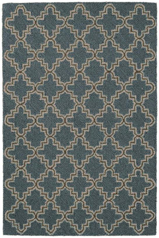 Plain Tin Cadet Wool Micro Hooked Rug The Outlet