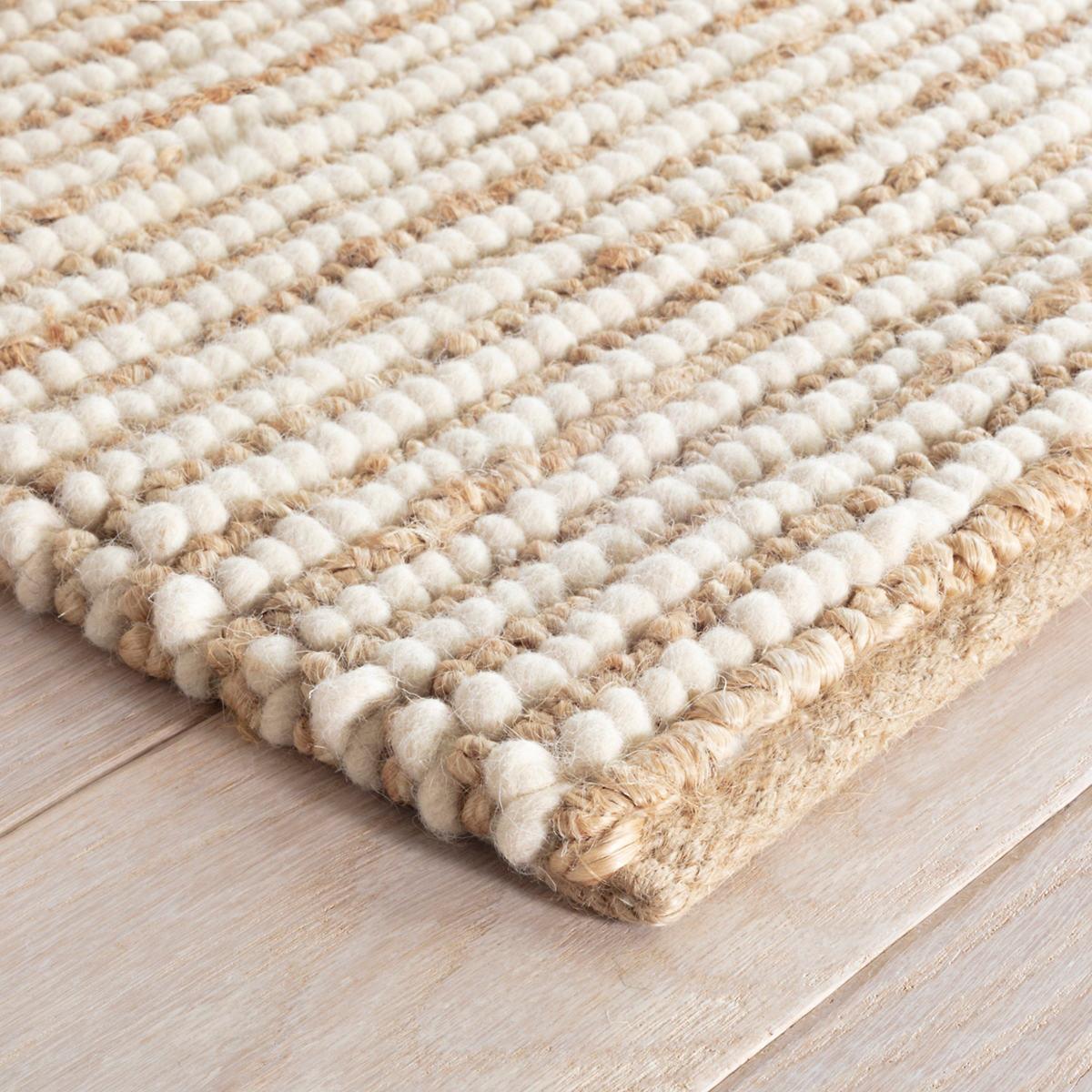 Twiggy Natural Woven Wool Jute Rug Dash Albert