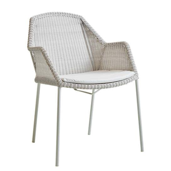 White Grey Breeze Stackable Dining Chair Furniture