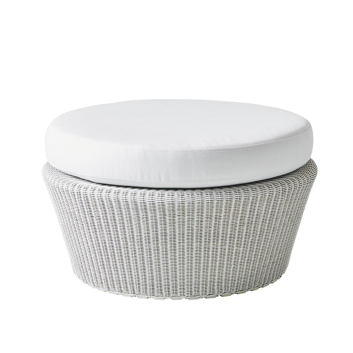 White Grey Kingston Large Footstool
