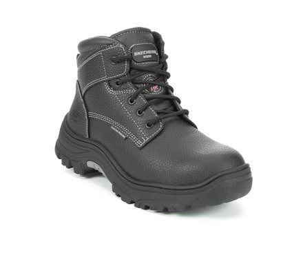 Men S Skechers Work 77143 Tarlac Steel Toe Puncture Resist Work Boots
