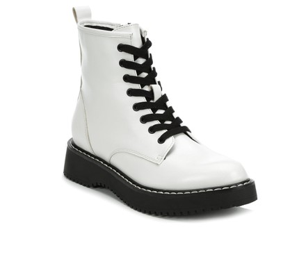 White Combat Boots For Women