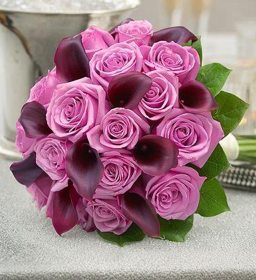 Purple Elegance Rose and Mini Calla Lily Bouquet