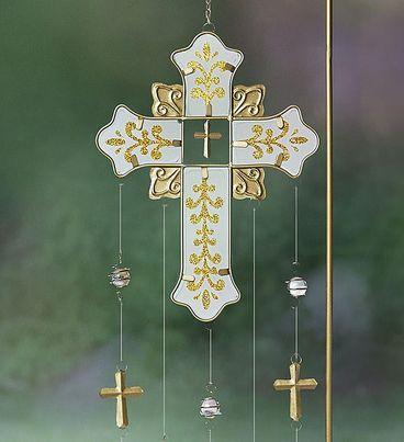 Graceful Glistening Cross Chime
