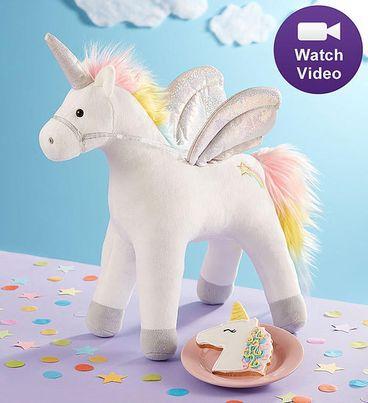 Gund® Light Up Unicorn Plush with Cookie