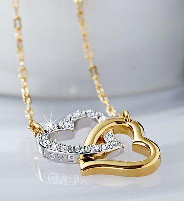 Swarovski® Match Double Heart Necklace