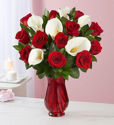 Red Rose & Calla Lily Bouquet