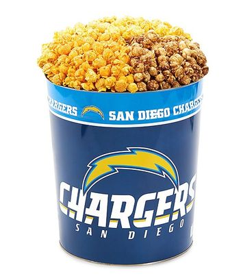 San Diego Chargers 3-Flavor Popcorn Tins