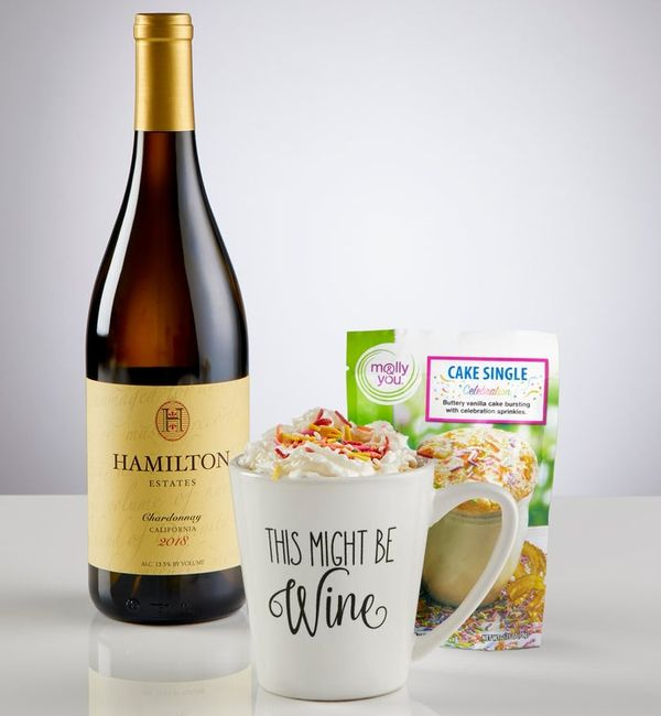Mugable™ with Cake Mix and Wine