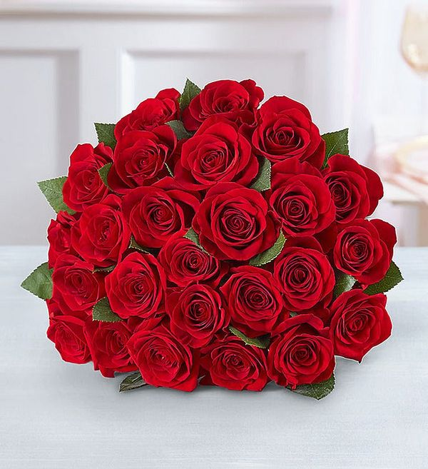 Two Dozen Red Roses Bouquet Only